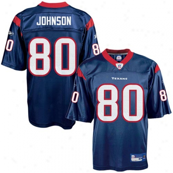 Texans Jersey : Reebok Nfl Equipment Texans #80 Andre Johnson Navy Youth Replica Football Jersey