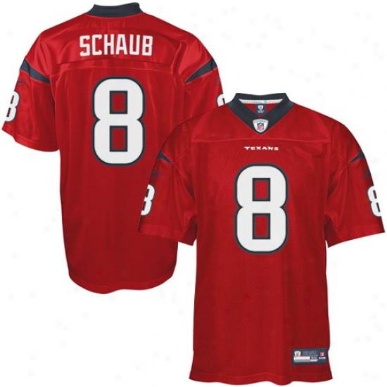 Texans Jerseys : Reebok Nfl Equipment Matt Schaub Texans Authentic  Jerseys - Red Altenrate