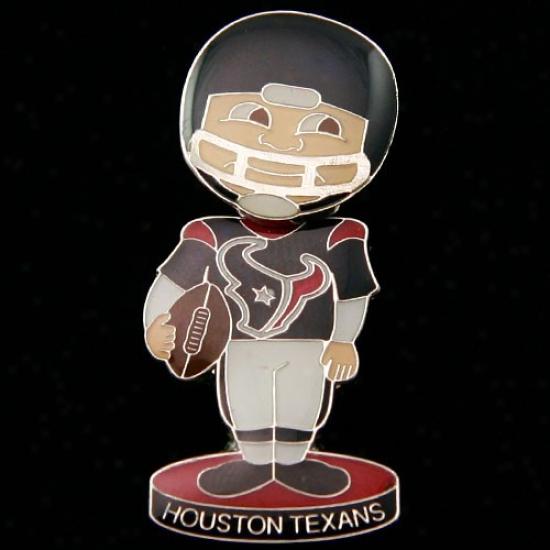 Texans Merchandise: Texans Bobble Head Football Player Pin