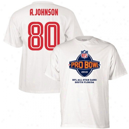 Texans Shirts : Reebok 2010 Pro Bowl Texans White #80 Andre Johnson Player Shirts