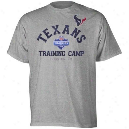 Texans Tshirt : Reebok Texans Ash August Afternoon Tshirt
