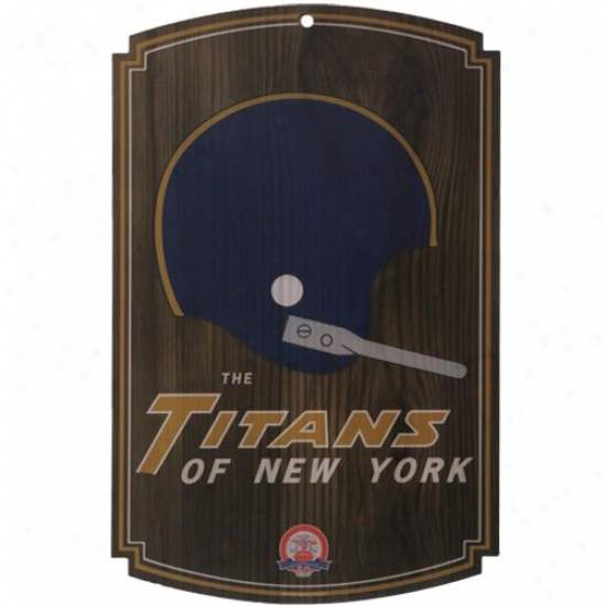 The Titans Of New York Afl Retro Wood Sign