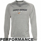 Denver Broncos T-shirt : Reebok Denver Broncos Ash Sidelime Equipment Speedwick Performance Heathered Long Sleeve T-shirt