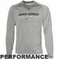 Denver Broncos T-shirt : Reebok Denver Broncos Ash Sidelime Equipment Speedwick Performance Heathered Long Sleeve T-shirt