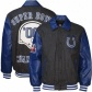 Indianapolie Colts Jackets : Indianapolis Colts Charcoal Wool/leather Super Bowl Champoons Commemorative Jcakets