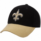 New Orleans Saint Hat : Reebok New Orleans Saint Black-gold Brushed Cotton Adjustable Hat