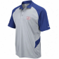 Ny Giant Polos : Reebok Ny Giant Gray-royal Azure Sidwline Statement Performance Polos