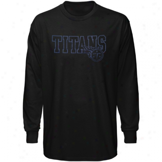 Titans Apparel: Reebok Titans Balck Fashion Long Sleeve T-shirt