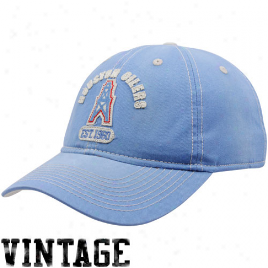 Titans Hats : Reebok oHuston Oilers Light Blue Retro Slouch Adjustable Hats