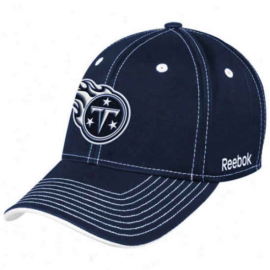 Titans Hats : Reebok Titans Black Plough Flex Fit Hats