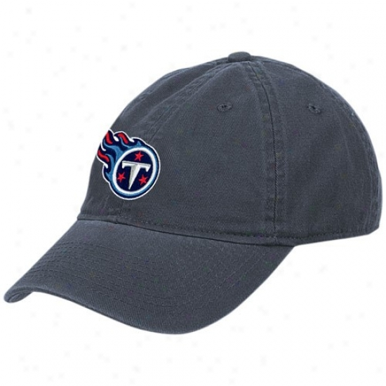 Titans Hats : Reebok Titans Ladies Navy Blue Basic Logo Slouch Hats
