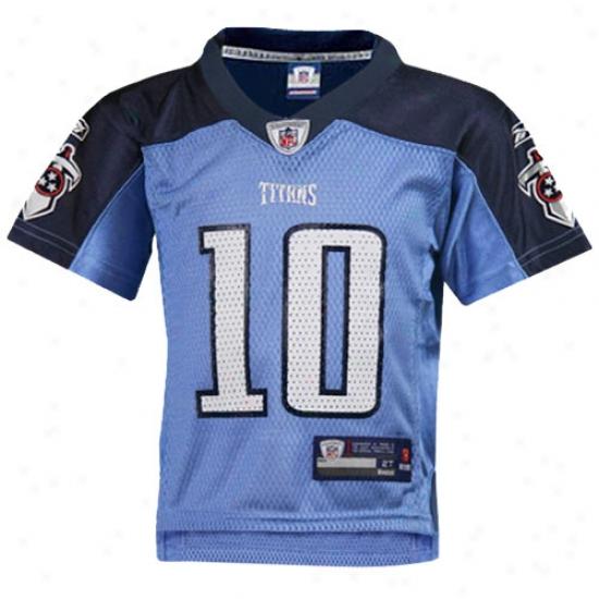 Titans Jerseys : Reebok Nfl Equipment Titans #10 Vince Young Light Blue Toddler Autograph copy Jerseys