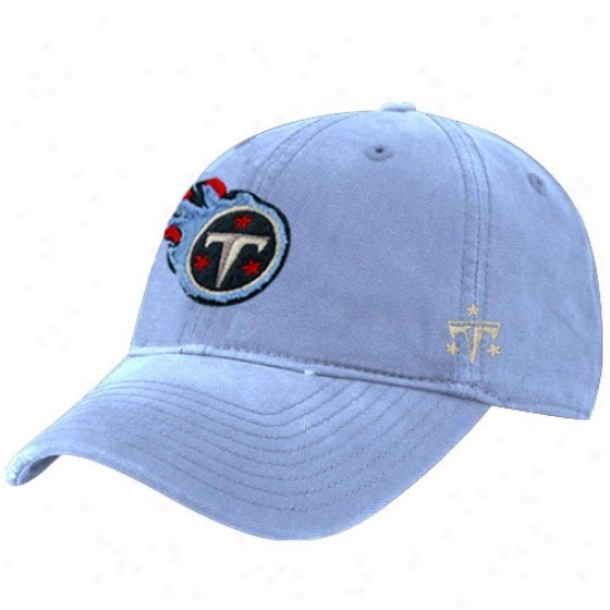 Titans Merchandise: Reebok Titans Light Blue Distresesd Slouch Hat