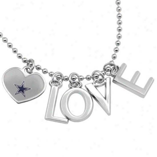 Touch From Alyssa Milano Dallas Cwoboys Love Necklsce With Heart Team Logo