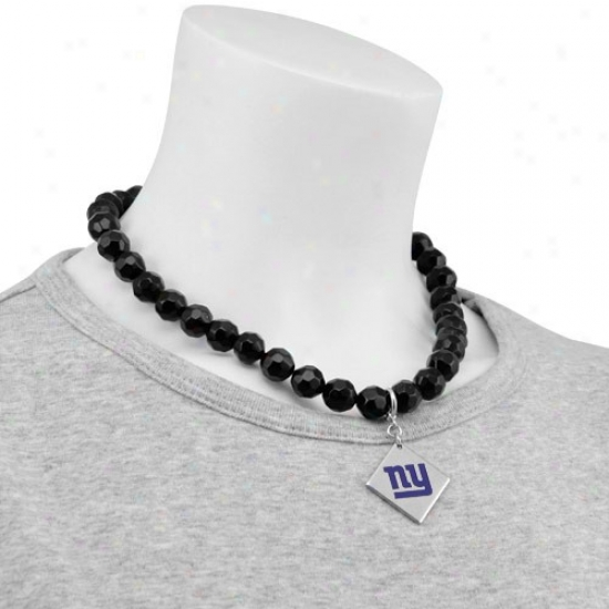 Touch By Alyssa Milano New York Giants Beaded Necklace With Team Logo Pendant
