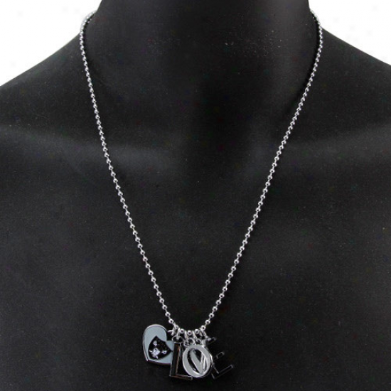 Touch By Alyssa Milano Oakland Raiders Love Necklace Wkth Heart Team Logo