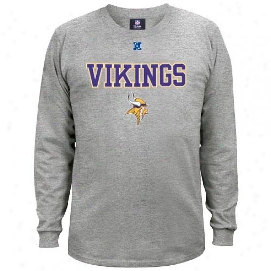 Vikings Apparel: Vikings Ash Critical Victory Ii iLong Sleeve T-shirt