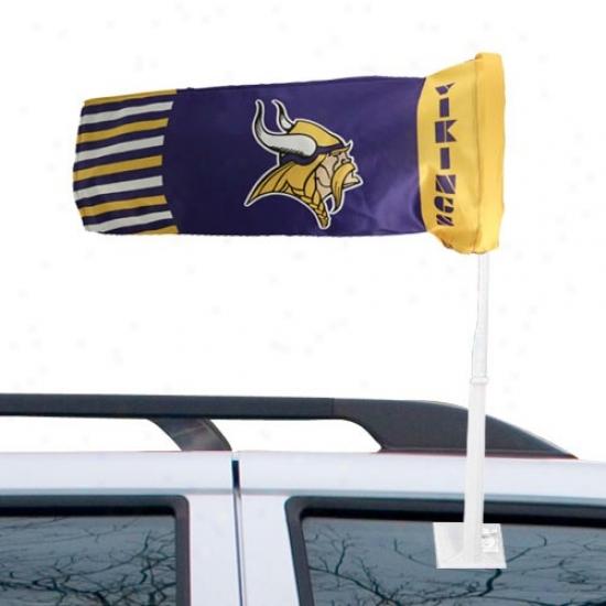 Vikings Banner : Vikings Purple Windsock