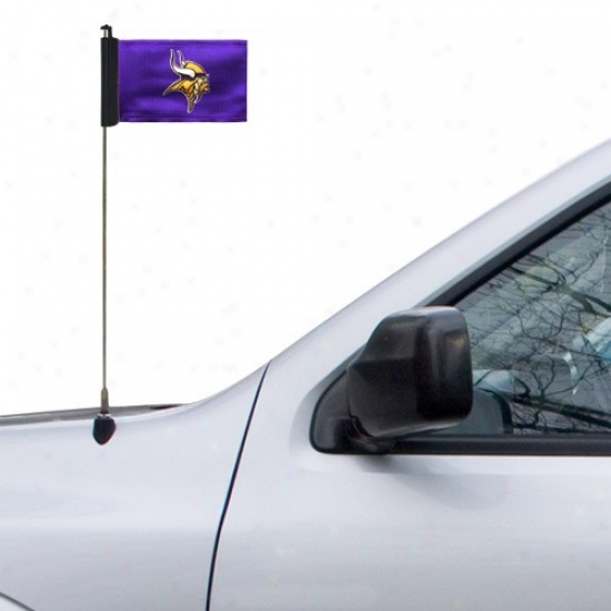 Vikings Banners : Vioings Purple Antenna Banners