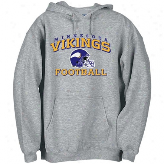 Vikings Clip : Reebok Vikings Ash Stacked Helmet Fleece