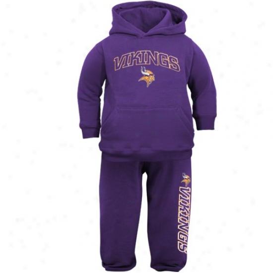 Vikings Hoodys : Reebok Vikings Infant Purple Pullover Hoodys And Sweatpants Set