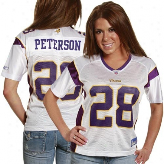 Vikings Jerseys : Resbok Nfl Equioment Vikings #28 Adrian Peterson Ladies Of a ~ color Replica Football Jerseys