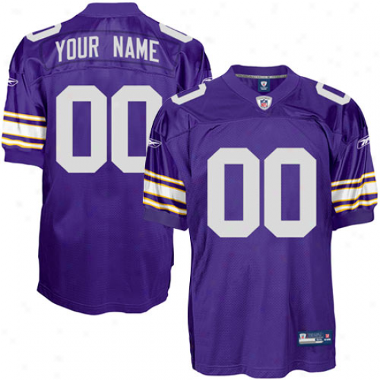 Vikings Jerseys : Reebok Vikings Authentic Alternate Customized Jerseys - Purple
