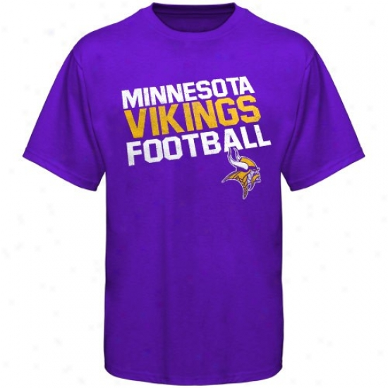 Vikings T-shirt : Reebok Vikings Youth Purple Loud Chant T-shirt