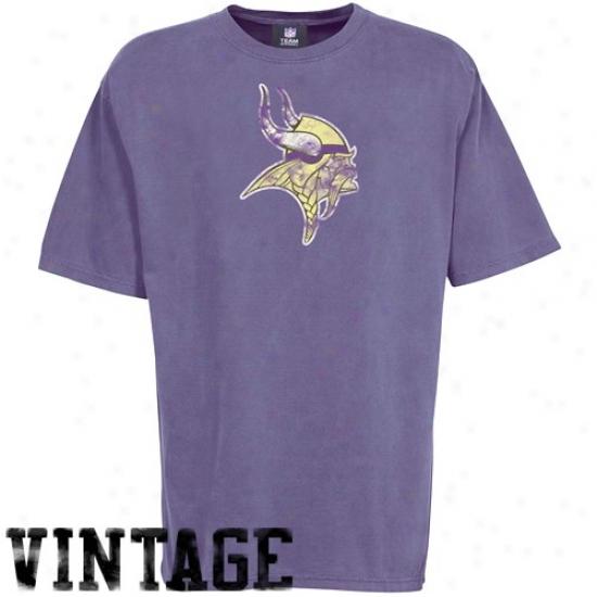 Vikings Tees : Vikings Heather Purple First Rounder Vintage Tees