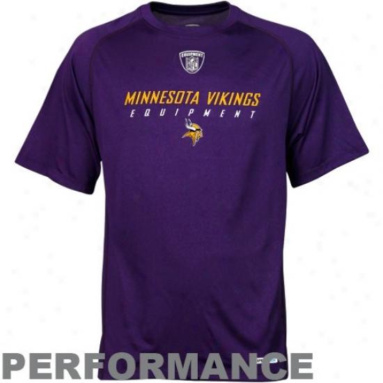 Vikings Tshirts : Reebok Nfl Equipment Vikings Purple Equipspeed Acting Tshirts