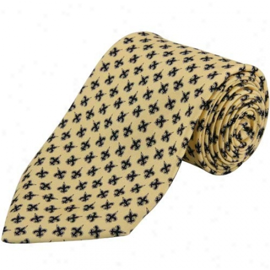 Vineyard Vines Starting a~ Orleans Saints Gold Silk Tie