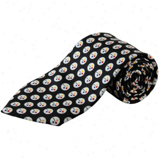 Vineyard Vlnes Pittsburgh Steelers Black Silk Tie