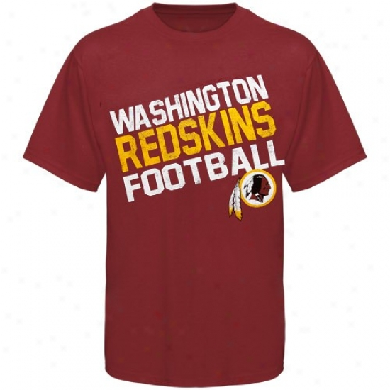Washington Redskin Apparel: Reebok Washington Redskin Yo8th Burgundy Chant Loud T-shirt