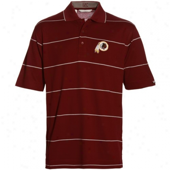 Washington Redskin Clothing: Cutter & Buck Washington Redskin Burgundy Precedent Polo