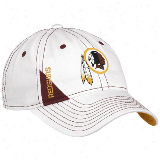 Washington Redskin Gear: Reebok Washington Redskin Youth White Official 2010 Detach Day Flex Fit Hat