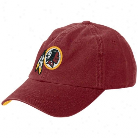 Washington Redskin Hat : Reebok Washington Redskin Burgundy Yiuth Basic Logo Sloych Hat