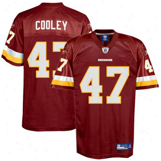 Washington Redskin Jersey : Reebok Chris Cooley Washington Redskin Replica Jersey - Burgundy