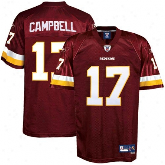 Washington Redskin Jerseys : Reebok N fl Equipment Washington Redskin #17 Jason Campbell Young men Burgundy Premier Tackle Twill Football Jerseys