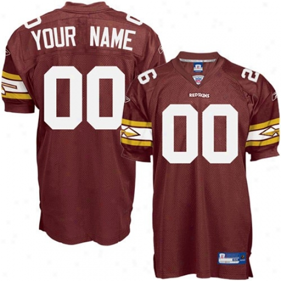 Waqhington Redskin Jerseys : Reebok Nfl Accoutrement Washington Redskin Alternate Burgundy Authentic Custommized Jerseys