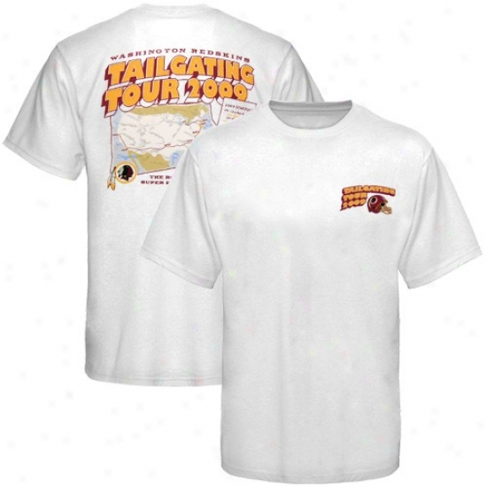 Washington Redskin Shirt : Reebok Washington Redskin White Tailgating Tour 2009 Schedule Shirt