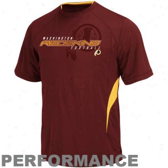Washington Redskin T-shirt : Washinfton Redskin Burgundy Fan Fare Iii Performance T-shirt
