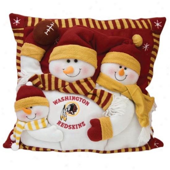 Washington Redskins 18-inch Snowman Family Pillow