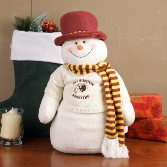 Washington Redskins 18'' Plush Snowman