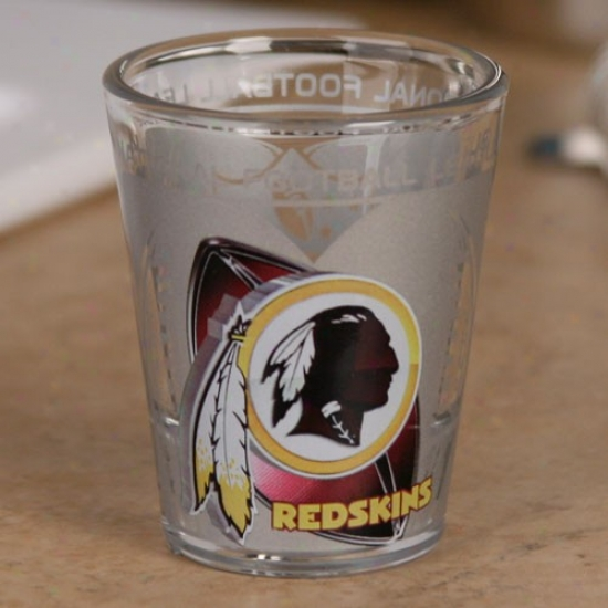Washington Redskins 2 Oz. Enhanced High Definition Shot Glass