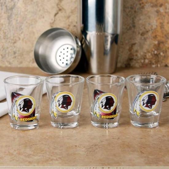 Washington Redskins 4-pack Enhanced Hi-def Deskgn Shot Glass Set