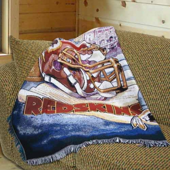 """washington Redskinns 48""""x60"""" Acrylic Triple Woven Home Field Advantage Blanket Throw"""