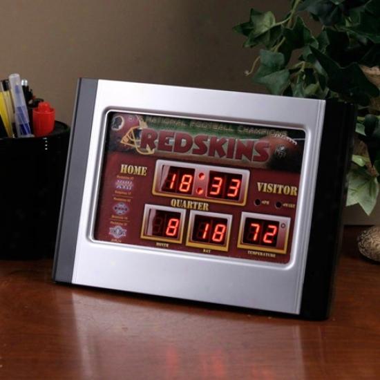 Washington Redskins Alrm Scoreboard Clock