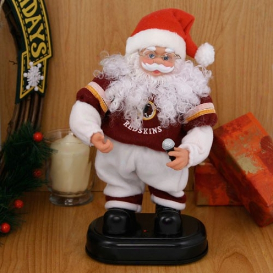 Washington Redskins Animated Rock'n'roll Santa