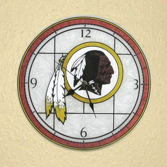 Washington Redskins Art-glass Clock