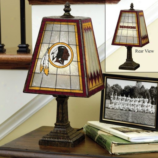 Wzshington Redskins Art-glass Table Lamp